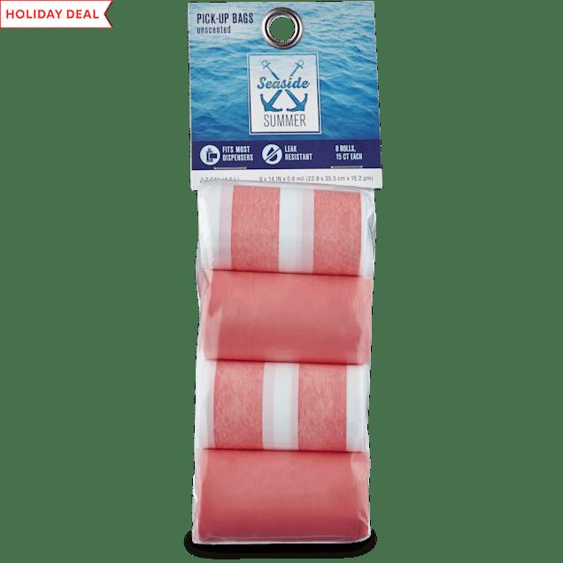 Seaside Summer Coral Stripe Dog Waste Bag Refills, 120 CT - Carousel image #1