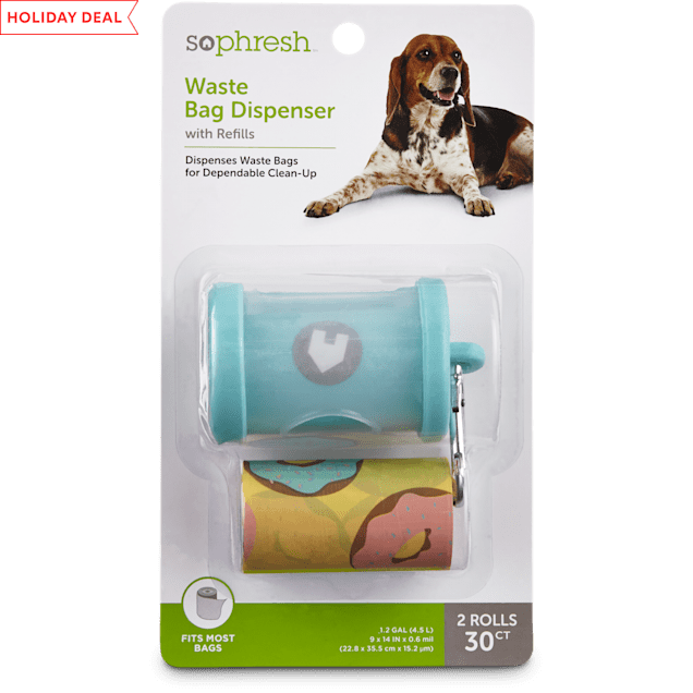 So Phresh Teal Dog Waste Bag Dispenser with Refills, 30 CT - Carousel image #1