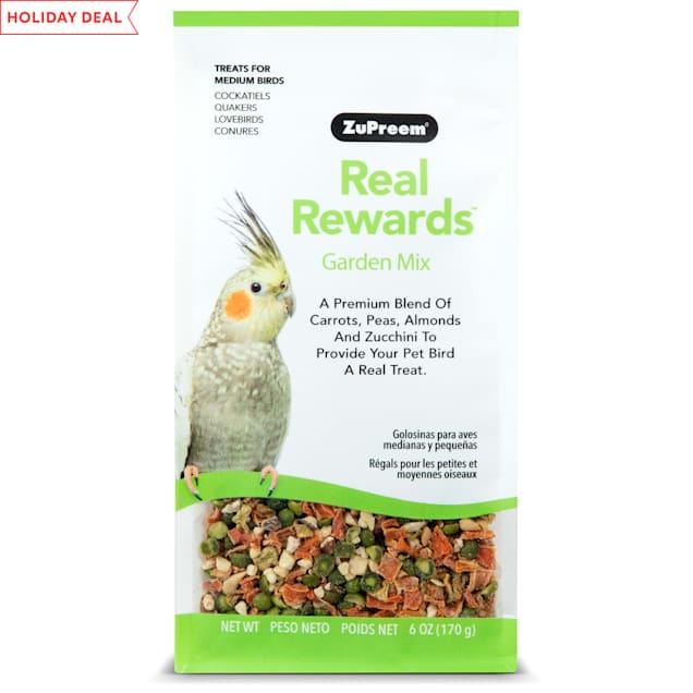 ZuPreem Real Rewards Garden Mix Treats for Medium Birds - Carousel image #1