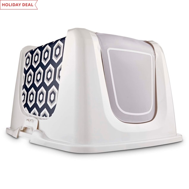 So Phresh Navy Cat Litter Box Privacy Hood, X-Large - Carousel image #1