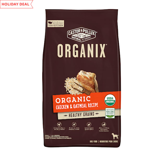 Castor & Pollux Organix Organic Chicken & Oatmeal Recipe Dry Dog Food, 18 lbs. - Carousel image #1