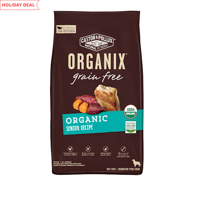 Castor & Pollux Organix Grain Free Organic Senior Recipe Dry Dog Food, 4 lbs. - Carousel image #1