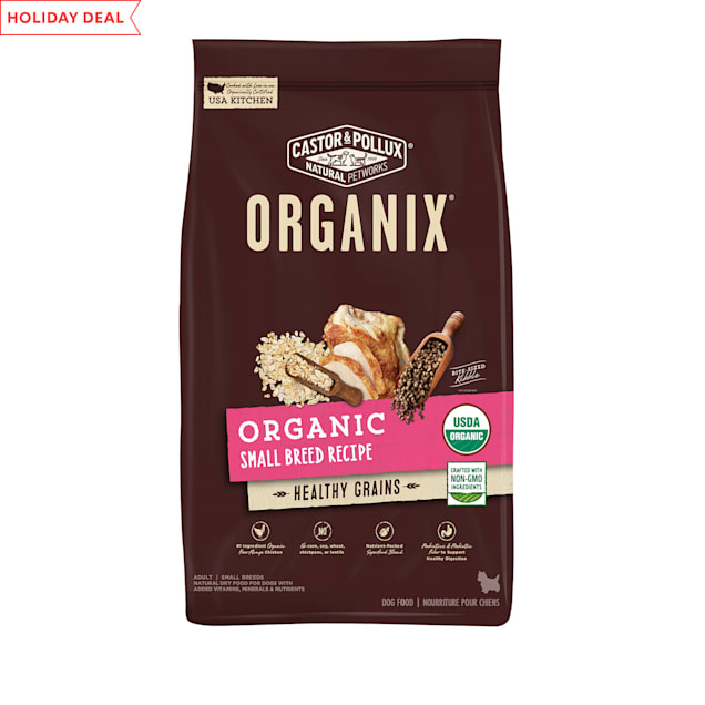 Castor & Pollux Organix Organic Small Breed Recipe With Healthy Grains Dry Dog Food, 10 lbs. - Carousel image #1