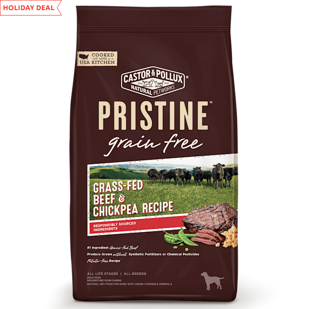 Castor & Pollux Pristine Grass-Fed Beef and Chickpea Recipe Dry Dog Food, 18 lbs. - Carousel image #1