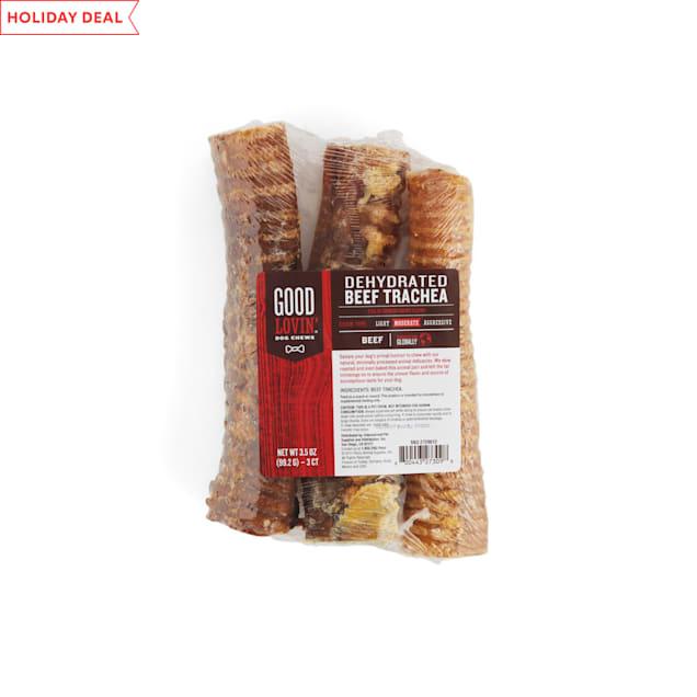 Good Lovin' Dehydrated Beef Trachea Dog Chews, 3.5 OZ, Pack of 3 - Carousel image #1