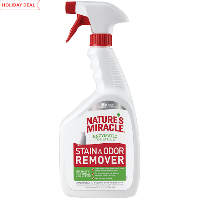 Nature's Miracle New Stain and Odor Remover Formula Spray for Cats, 32 fl. oz. - Carousel image #1
