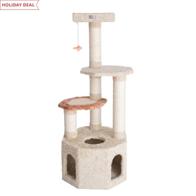 """Armarkat Premium Cat Tree Model X5703 Khaki, 57"""" H - Carousel image #1"""