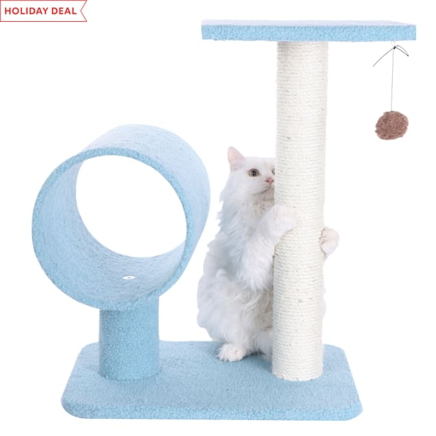 "Armarkat Classic Cat Tree Model B2501 Sky Blue, 26"" H - Carousel image #1"