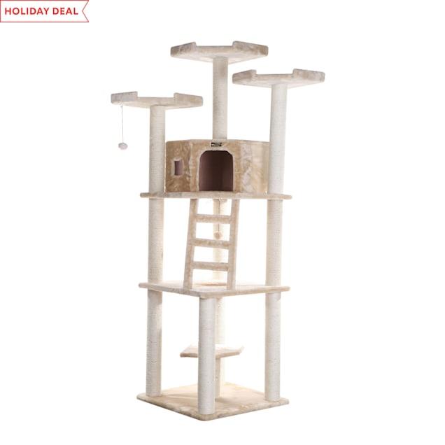 "Armarkat Classic Cat Tree Model A8001 Beige, 80"" H - Carousel image #1"
