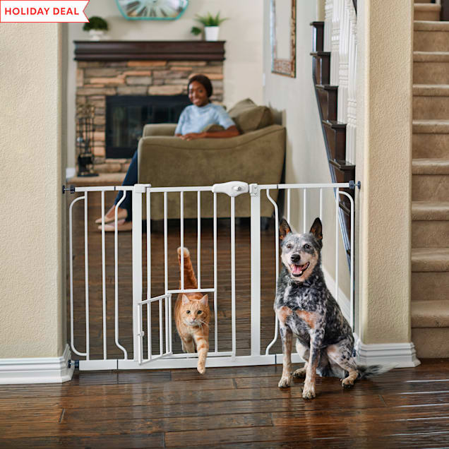 "You & Me Extra Wide Walk-Thru Pet Gate, 29""-52"" W x 30"" H - Carousel image #1"