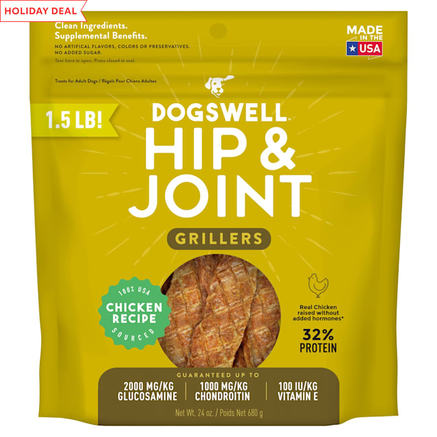 Dogswell Hip & Joint Grillers Grain-Free Chicken Recipe for Dogs, 24 oz. - Carousel image #1