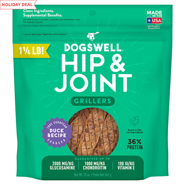 Dogswell Hip & Joint Grillers Grain-Free Duck Recipe for Dogs, 20 oz. - Carousel image #1