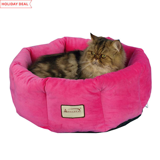 "Armarkat Cozy Cat Bed in Pink, 15"" L X 15"" W - Carousel image #1"