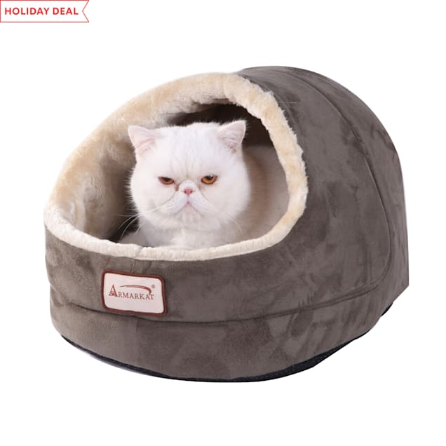 """Armarkat Cave Cat Bed in Laurel Green, 18"""" L X 14"""" W - Carousel image #1"""