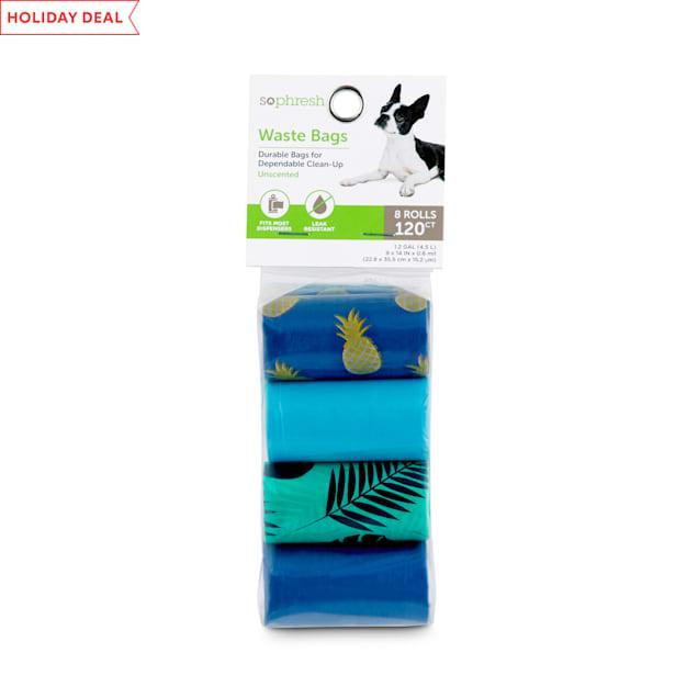 So Phresh Pineapple Print Dog Waste Bag Refills, Count of 120 - Carousel image #1