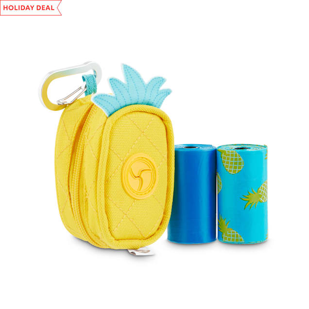 So Phresh Pineapple-Shaped Fabric Dog Waste Bag Dispenser with Refill Rolls - Carousel image #1