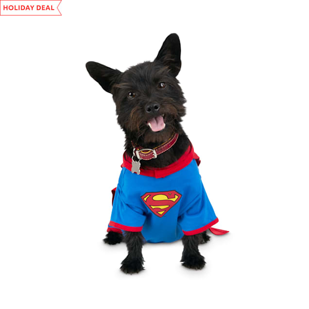 DC Comics Justice League Superman Dog T-Shirt With Removable Cape, X-Small - Carousel image #1