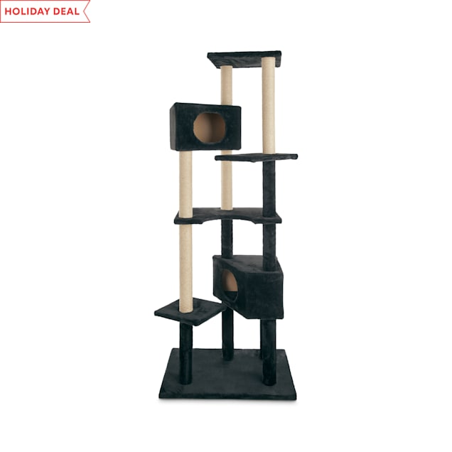 "Animaze 6-Level Black Cat Tree, 76"" H - Carousel image #1"