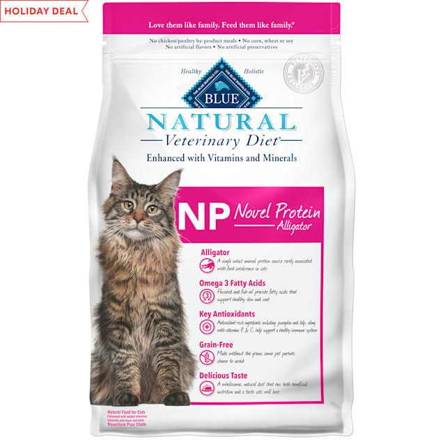 Blue Buffalo Blue Natural Veterinary Diet NP Novel Protein-Alligator Dry Cat Food, 7 lbs. - Carousel image #1