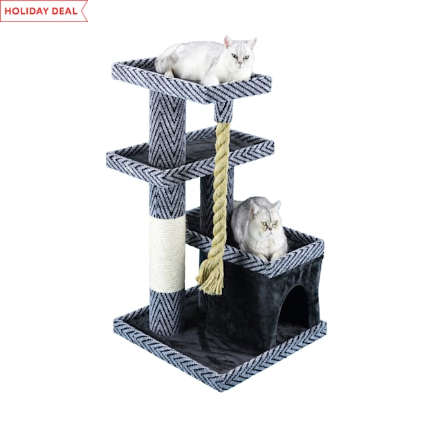 """Go Pet Club Sequoia 38"""" Cat Tree with Giant Rope - Carousel image #1"""