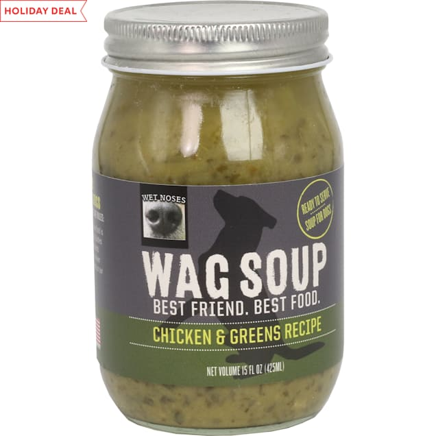 Wet Noses Wag Soup Chicken and Greens Recipe Wet Dog Food, 15 oz. - Carousel image #1