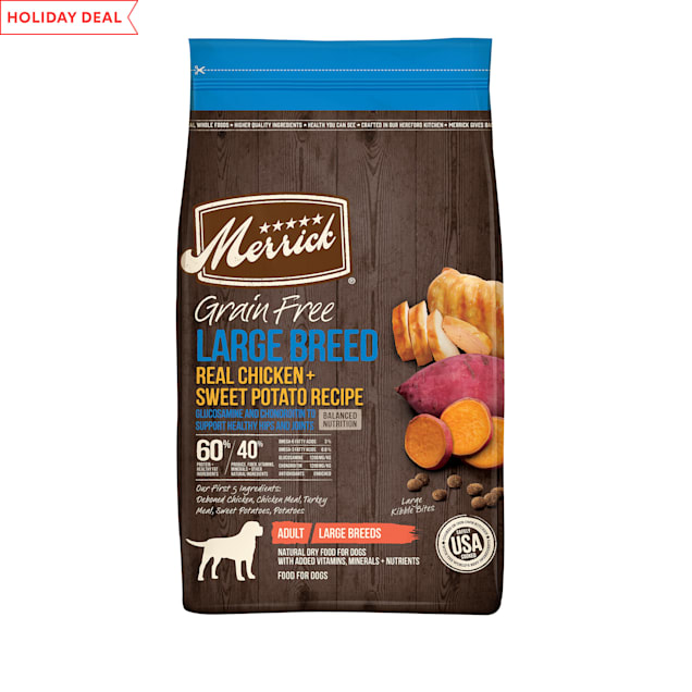 Merrick Grain Free Real Chicken & Sweet Potato Recipe Large Breed Dry Dog Food, 22 lbs. - Carousel image #1