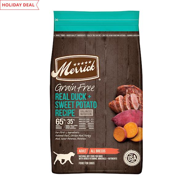 Merrick Grain Free Duck + Sweet Potato Recipe Dry Dog Food, 4 lbs. - Carousel image #1