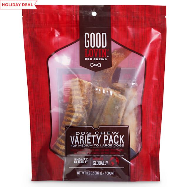 Good Lovin' Dog Chew Variety Pack for Medium & Large Dogs, 11.2 oz., Count of 7 - Carousel image #1