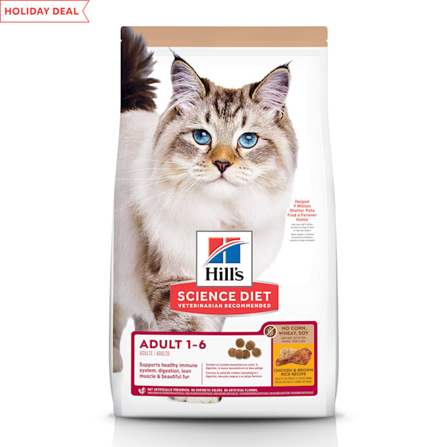 Hill's Science Diet No Corn, Wheat, Soy Chicken Flavor Dry Cat Food, 7 lbs. - Carousel image #1