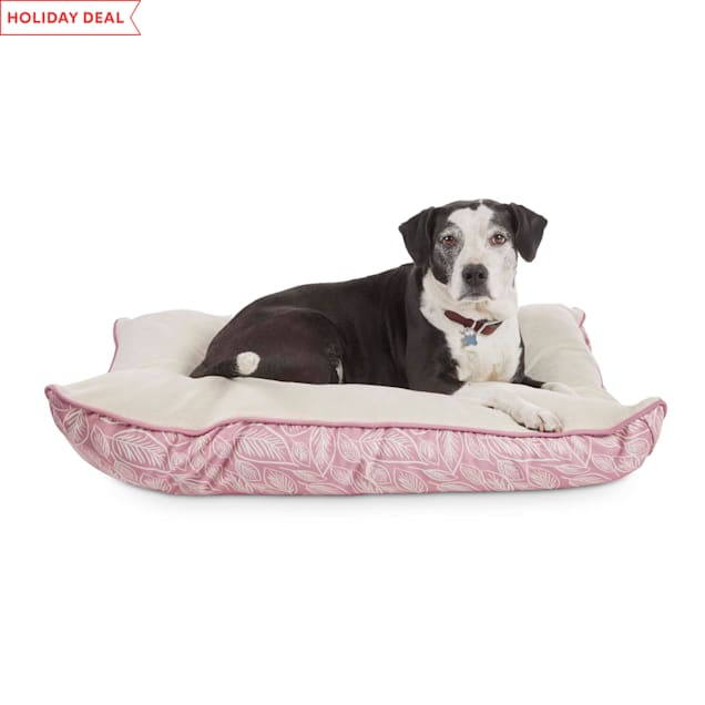 """EveryYay Essentials Snooze Fest Pink Lounger Dog Bed, 40"""" L X 30"""" W X 2"""" H - Carousel image #1"""