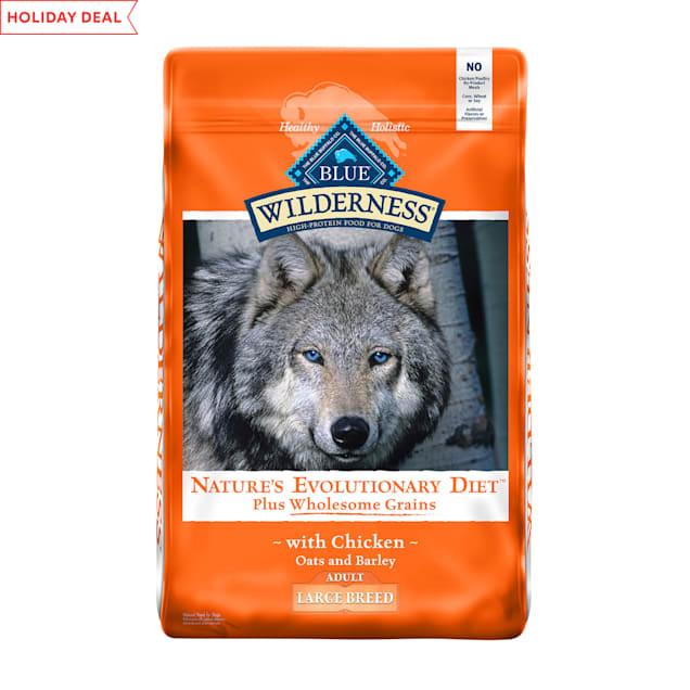 Blue Buffalo Blue Wilderness plus Wholesome Grains High Protein Natural Adult Large Breed Chicken Dry Dog Food, 24 lbs. - Carousel image #1