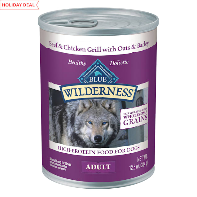 Blue Buffalo Blue Wilderness Natural Wholesome Grains Beef & Chicken Grill Adult Wet Dog Food, 12.5 oz. - Carousel image #1