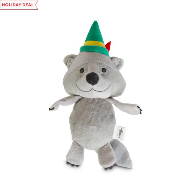 Elf Hey Buddy Raccoon Plush Dog Toy, Medium - Carousel image #1