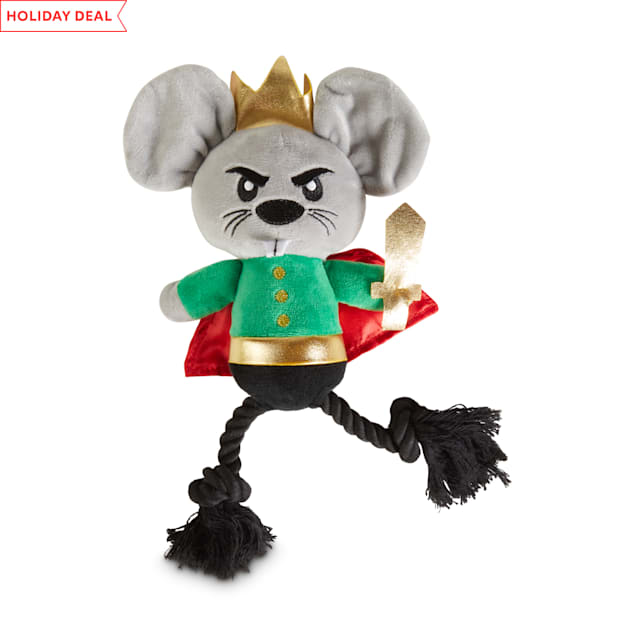 Holiday Tails The Nutcracker Mouse King Plush & Rope Dog Toy with Squeaker, Large - Carousel image #1