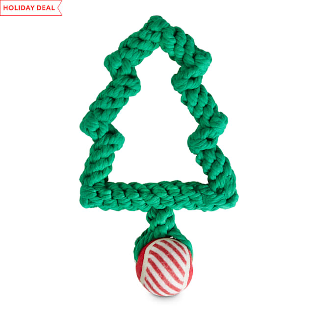 Holiday Tails A Handcrafted Holiday Rope Dog Toy in Various Styles, Medium - Carousel image #1