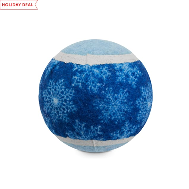 Holiday Tails The Winter Ball Tennis Ball Dog Toy in Various Styles, Medium - Carousel image #1