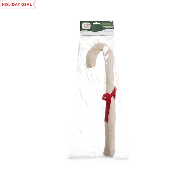 Holiday Tails Season's Treatings Rawhide Candy Cane Dog Chew, 9.7 oz. - Carousel image #1