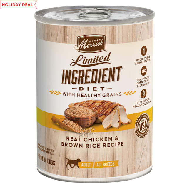 Merrick Limited Ingredient Diet Healthy Grains Real Chicken Recipe Wet Dog Food, 12.7 oz. - Carousel image #1