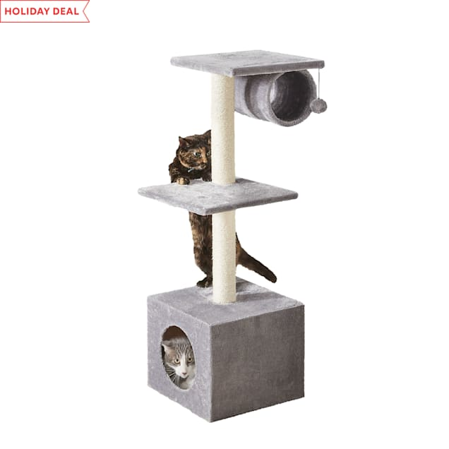 """Two by Two Aspen 3 Level Multi-Option Cat Condo, 14.2"""" L X 14.2"""" W X 41.5"""" H - Carousel image #1"""