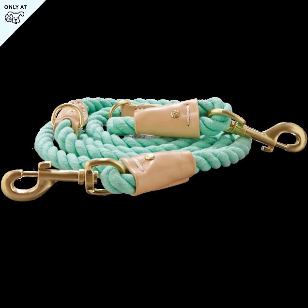 Bond & Co. Turquoise & Buff Rope Dog Leash, 6 Ft - Carousel image #1