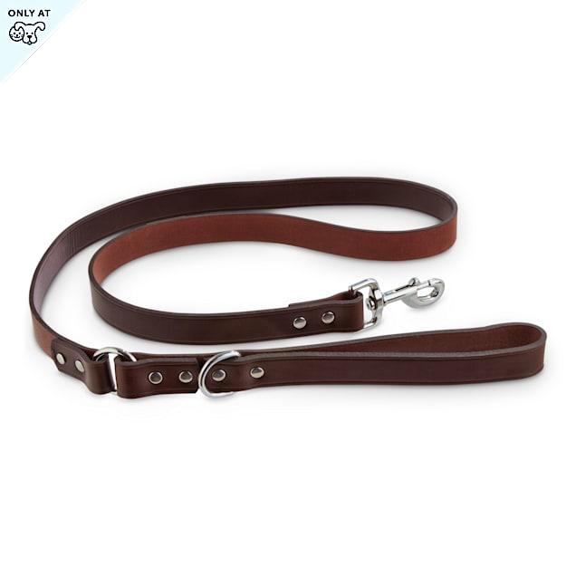 Bond & Co. Mahogany Leather Dog Leash, 5 ft. - Carousel image #1
