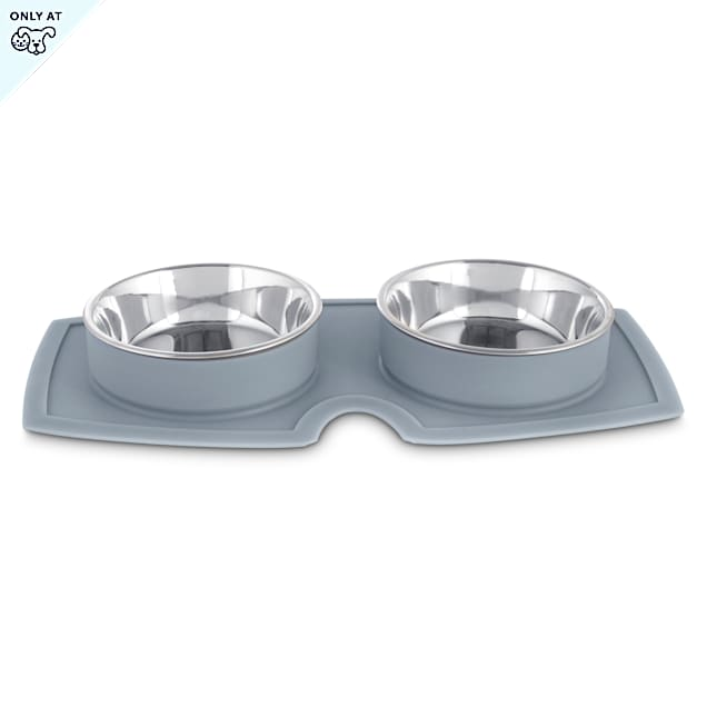 Harmony Silicone Double Diner Dog Bowl Set, 2.1 Cups - Carousel image #1