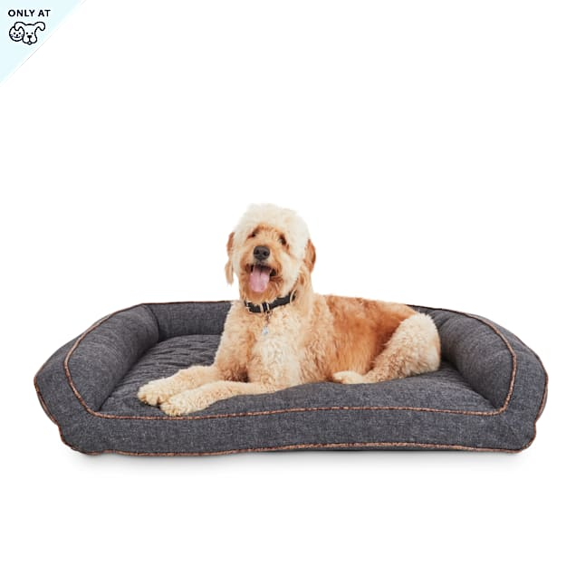 "Harmony Memory Foam Sleeper Grey Dog Bed, 48"" L X 36"" W - Carousel image #1"
