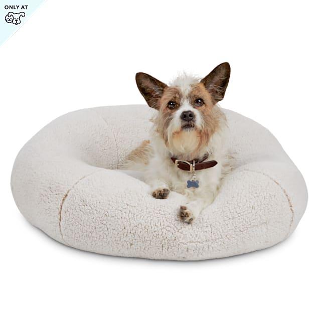 "EveryYay Snooze Fest Cream Round Snuggler Dog Bed, 28"" L X 28"" W - Carousel image #1"