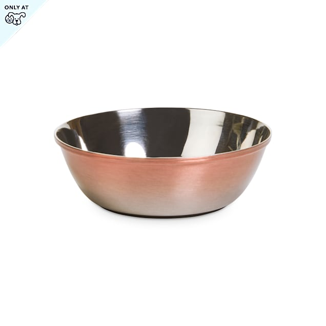 EveryYay Dining In Metallic Ombre Stainless-Steel Dog Bowl, 1.25 Cups - Carousel image #1