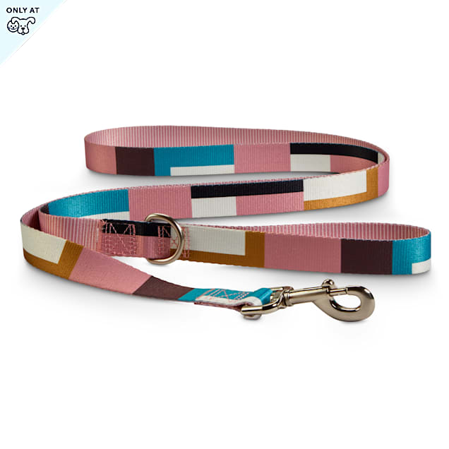 Bond & Co. Pink & Colorblocked Reversible Dog Leash, 6 ft. - Carousel image #1