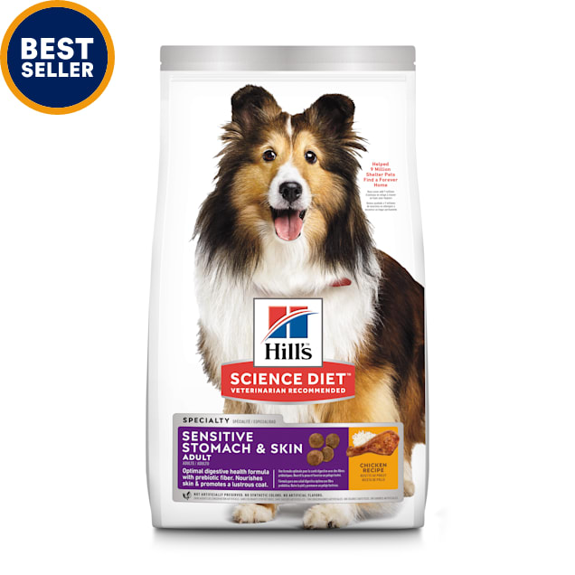 Hill's Science Diet Adult Sensitive Stomach & Skin Chicken Recipe Dry Dog Food, 30 lbs. - Carousel image #1