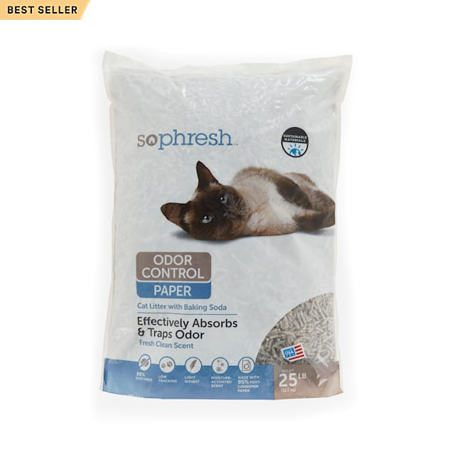 So Phresh Odor Control Paper Pellet Cat Litter, 25 lbs. - Carousel image #1