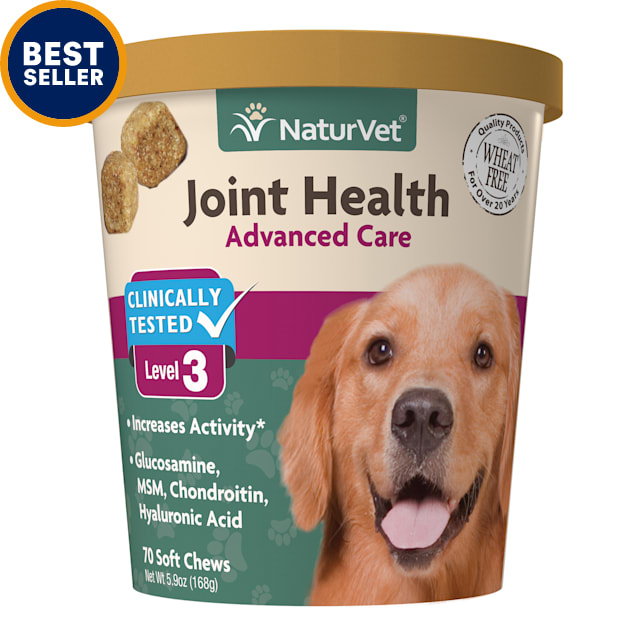 NaturVet Joint Health Level 3 Dog Soft Chew, 5.9 oz., Count of 70 - Carousel image #1