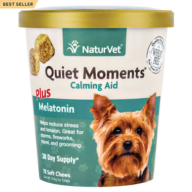 NaturVet Quiet Moments Calming Dog Soft Chew, 5.4 oz., Count of 70 - Carousel image #1